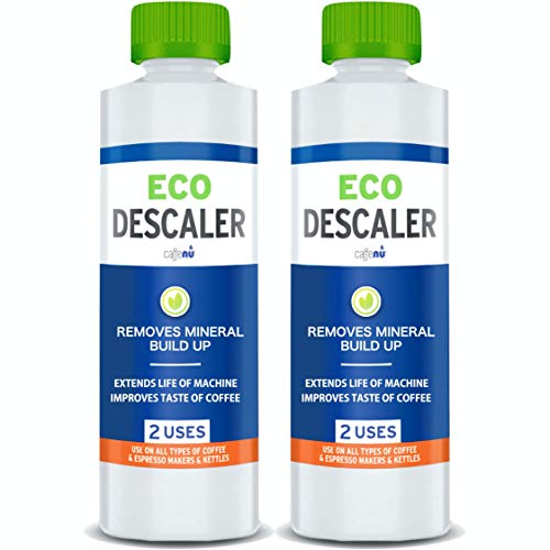 Descaler (2 Pack, 2 Uses Per Bottle) - Universal Descaling Solution for Keurig, Nespresso, Breville, Delonghi and all Coffee and Espresso Machines