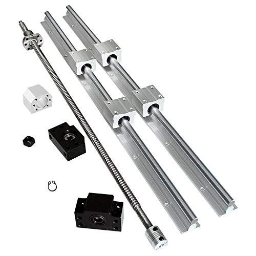 Kit de vis sphériques SFU1605–1200 mm Kit de vis à bille + rail de support CNC SBR16–1200 mm, longueur environ 1200 mm