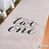Watch two become one when you use this aisle runner during your wedding ceremony. A great addition to your wedding décor this simple yet elegant aisle runner will lead you to the beginning of the rest of your life together. Size: 100 feet x 3 feet Po...