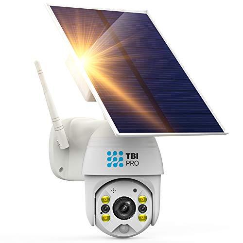 TBI Pro Solar Security Camera Outdoor Wireless PTZ – WiFi Home Security Camera