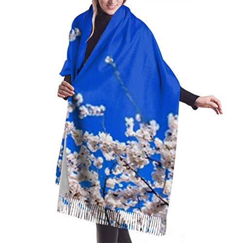 Bufanda de invierno unisex, Cherry Blossoms Tidal Basin Washington Dc Long Large Warm Scarves Wrap Shawl Stole
