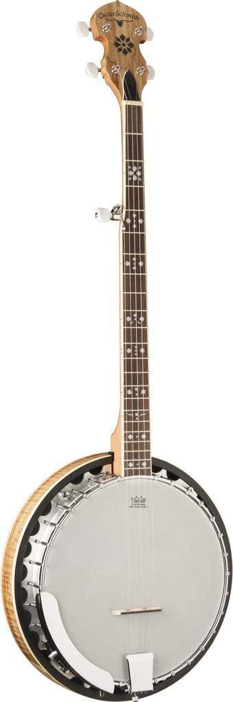 Oscar Superior Schmidt OB5SP 5-String Banjo Maple Spalted Oakland Mall Remo Head Reso