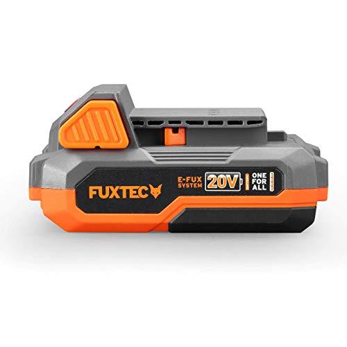 Fuxtec Akku 2Ah 20V E1B2AH Li-Ion Batterie passend 20 Volt Gartengeräte & Werkzeuge – Ladezeit 60 Min