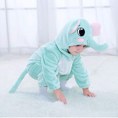 LALY A SHOP Bebé Dinosaurio Perro león Disfraz Kigurumi Dibujos Animados Animal Mamelucos bebé niño pequeño Halloween fantasía, Elefante, 100 (31-36 m)