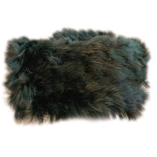 GREEN&RARE Diadema para mujer, estilo vintage, gruesa, gruesa, ancha para el invierno, para clima frío, resistente al viento, banda para el pelo, esponjosa, elástica, para orejeras rusas, bandana