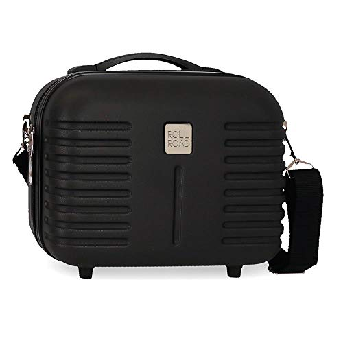 Roll Road Neceser ABS India Adaptable Negro, 29 x 21 x 15 cm