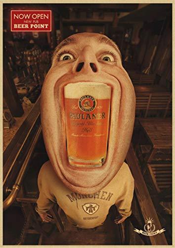 binghongcha Impresión En Lienzo Sin Marco Cartel Retro De Cerveza Decoración del Hogar Cartel Dibujo Pintura Pegatinas De Pared K-164 (50X70Cm) Sin Marco