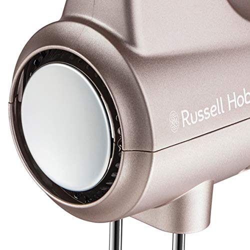 Russell Hobbs Sbattitore Swirl 25892-56, 2 Fruste a Elica, 5 Velocità, Include 2 ganci cromati e 1 frusta, 350 w, Quarzo