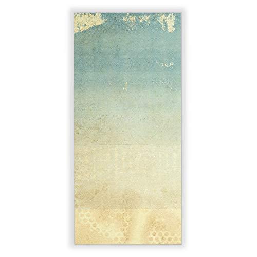 Banjado Wechselscheibe für IKEA GYLLEN Wandlampe | Glasscheibe für Wandleuchte 56x26cm | Echtglas Motiv Patina Papier | Hochformat