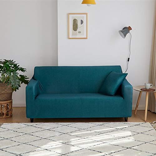 WXQY Funda de sofá elástica de Color sólido, combinación de Funda de sofá de protección para Mascotas con Todo Incluido, Funda de sofá de Esquina en Forma de L, A11, 3 plazas