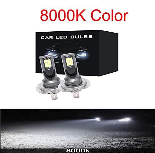 2 unids Mini H4 H7 LED CARIR LUGARIO FOG KIT 6000K 3000K 8000K 72W 12000LM H1 H1 H11 9005 HB3 H8 H9 12000k Bulbos ACCESORIOS DE COCHES (Emitting Color : 8000K, Socket Type : H8)