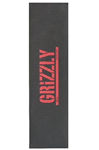 Grizzly Stamp Print–Superficie Antideslizante para monopatín MSA Rojo 9cm