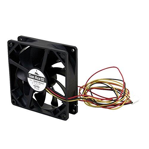 オウルテック 安心の2年間交換保証 PCケース用山洋電気製スーパー超静音ファン 9cm 25mm厚 800rpm SF9-S1