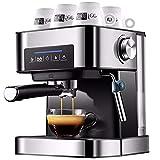Amdo Cafetera Profesional para Casa, Maquina De Cafe Espresso 20 Bar, Capacidad del DepóSito De Agua 1,5 L, Sin Bpa, Acero Inoxidable, 850 W