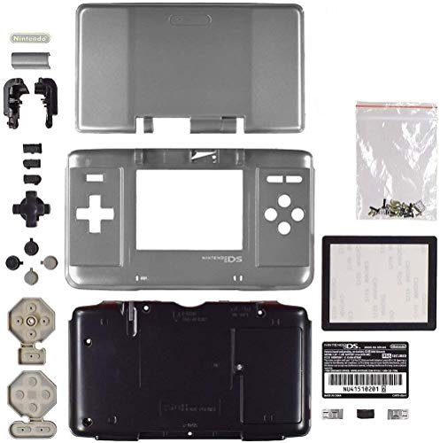 Kit de carcasa de repuesto completo para consola Nintendo DS NDS (plata)