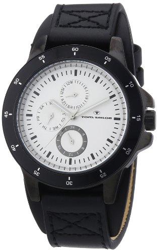 TOM TAILOR Herren-Armbanduhr XL Analog Quarz Leder 5411303
