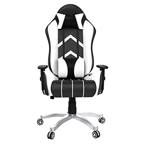 Rekart Gaming Chair (RGC-15) PU + PVC Black Frame, 350mm Metal Base, with Lumbar Support, Angle 90-175 Degree, Office and Gaming Chair