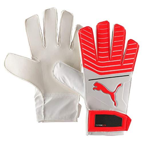 PUMA One Grip 17.4 Handschuhe Torwart, White/Red Blast Black/Silver, 8