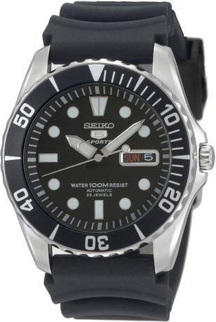 Seiko 5 reloj para Hombre Analógico de Automático con brazalete de Goma SNZF17K2