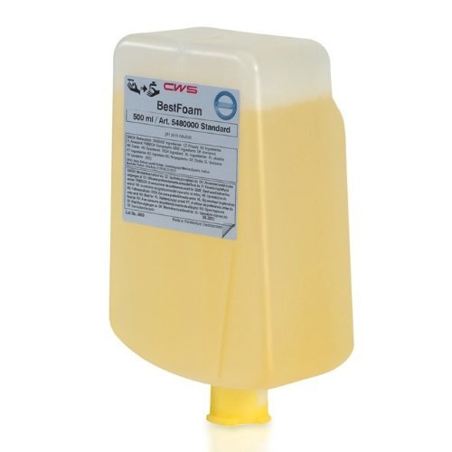 CWS 5463000 Seifencreme Best Standard Zitrusduft für Spendersystem Paradise Cream Slim 1 VE = 12 Stück à 500 ml dermatologisch getestet, biologisch abbaubar