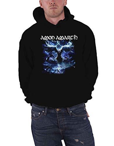 Amon Amarth Kapuzenpullover Ravens Flight Band Logo Nue offiziell Herren Schwarz