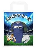 Bolsas de fiesta temáticas de rugby, para regalos, botín, eventos, colores escoceses de Londres (paquete de 6)