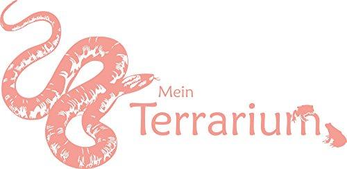 GRAZDesign Muurtattoo Mijn Terrarium - Muursticker slang met kikkers / 640075 117x57cm 819 Dalhia pink.