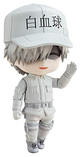 XIAOGING Nendoroid Q Versión de glóbulos Blancos WBC Intercambiable Cara 3.9inches Figuras Hataraku Saibou Figura de acción de PVC Modelo de Personaje