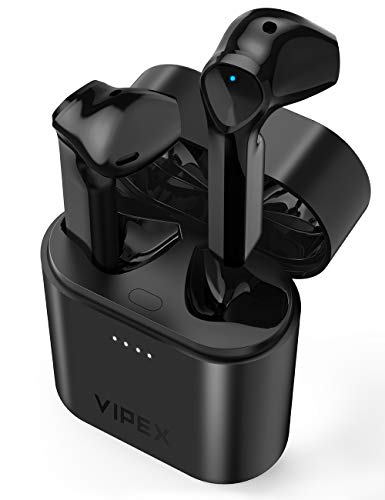 Wireless Earbuds, VIPEX Bluetooth 5.0 True Wireless Earbuds Headphones IPX7 Waterproof Deep Bass Bluetooth Ear Buds with Charging Case, Built-in Mic, USB-C Fast Charge, 35H Playtime for Workout Sports