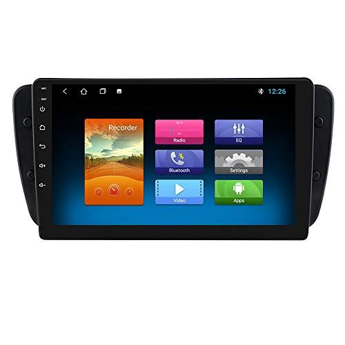 Android 10 OS Pantalla táctil de 9 Pulgadas Navegación del Coche Autoradio Estéreo Bluetooth WiFi Mirrorlink Ajuste para Seat Ibiza 2009 2010 2011 2012 2013