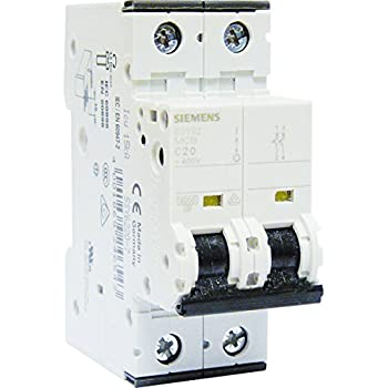 Legrand LEG407785 Disjoncteur dx 6000 Vis//Vis 2P 230//400 V 20 A 10 kA Courbe C Peigne hx trad 2P 2 m