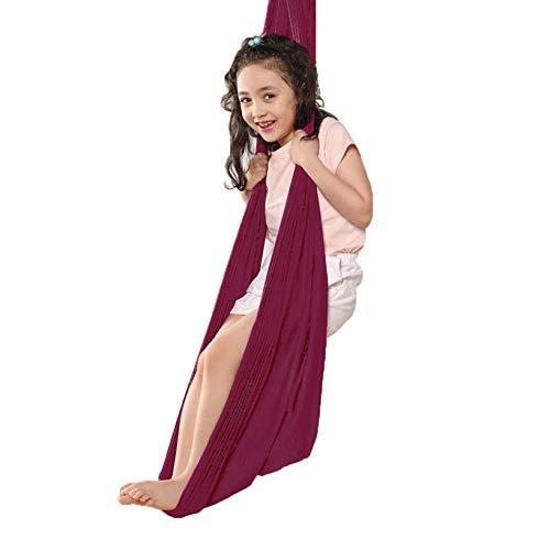 LKITYGF Alegre Terapia Interior Swing para niños con Necesidades Especiales Snughle Swing Abrazar Hamaca para una Silla de Hamaca Interior para Adultos Púrpura 100x280cm-39x110in