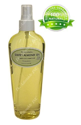 Sweet Almond Oil For Skin Hair And Health Comes with a Sprayer 8 oz