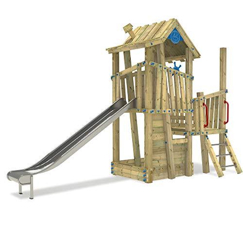 WICKEY Spielturm Klettergerüst PRO GIANT Castle öffentliches Spielplatz Spielgerät mit Edelstahl Rutsche