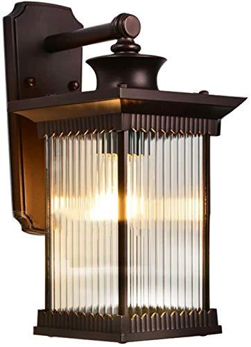 Outdoor Upside Down Waterdichte wandlamp, Chinese Striped Glazen lampenkap binnen- en buitenverlichting, for The Villa Courtyard Outer Muur