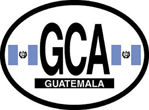 Guatemala Oval Glossly FLAG Decal, Waterproof UV Coated
