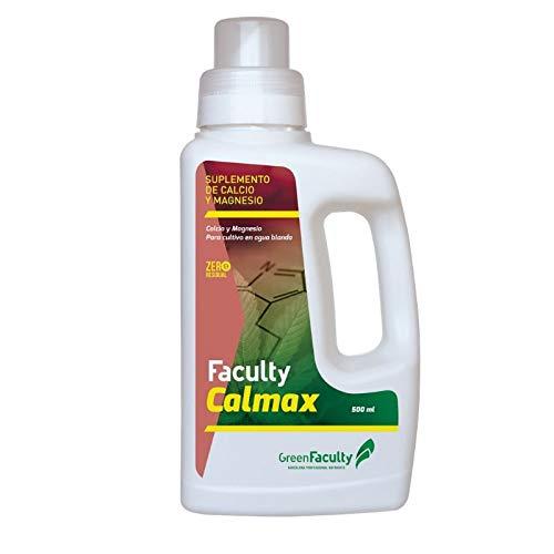 GreenFaculty Abono Fertilizante. Faculty CalMax: Calcio y Magnesio. Suplemento Cultivo en Agua Blanda. Líquido. Cero Residuos, Apto para Cultivo Medicinal (500 ml)