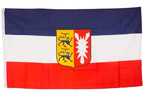 SCAMODA Bundes- und Länderflagge aus wetterfestem Material mit Metallösen (Schleswig-Holstein) 150x90cm