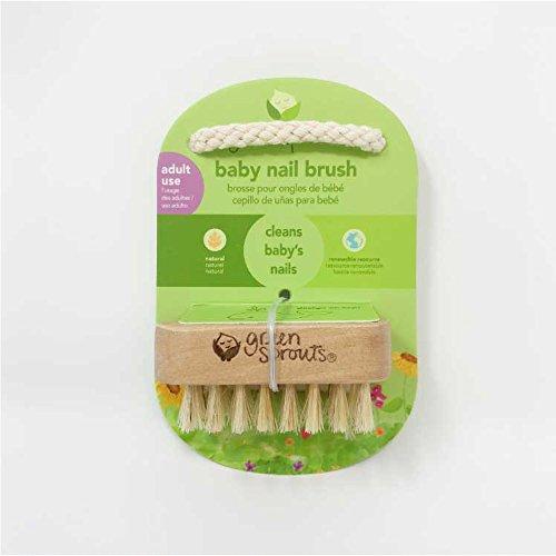グリーンスプラウツgreensproutsベビーネイルブラシくし新生児乳児サラサラ山羊毛天然木Natural