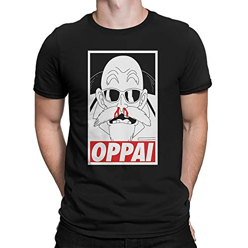 Geek me that Camiseta Ermitaño Tortuga Oppai Kame Sennin Anime Manga Dragon Ball Shirt Maestro Muten Roshi Geek Otaku Hentai Parodia