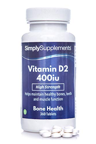 Vitamin D Tablets 400iu | 360 Tablets = Up to One Year Supply | Supports...