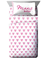 Jay Franco Disney Minnie Mouse Pink & White Sheet Sets (Twin)