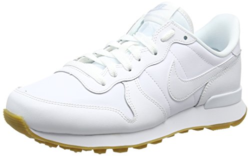 Nike Damen Internationalist Sneakers, Mehrfarbig (White/White/White/Gum Light Brown 103), 40 EU