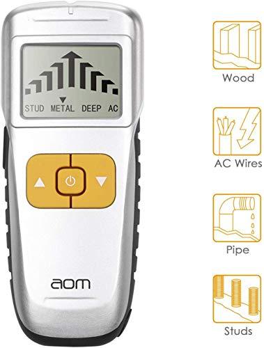 Ortungsgerät 4 in 1 Multifunktions Wand Scanner Detektor Leitungssucher mit Großer LCD Bildschirm und Signalanzeige für AC Draht Holz und Metall (SL-0)