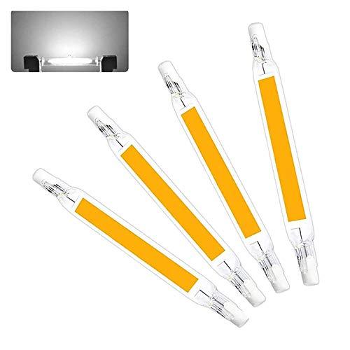 WXYC Lampadina LED R7S 78mm Bianco Freddo 6000K, 1000LM, R7S 10W COB LED equivalente alogena R7S J78 100W, 360 Gradi, dimmerabile, LED Sottile R7S 78mm per Lampada da soffitto/Terra, Set di 4
