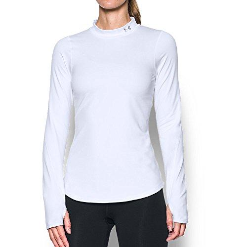 Under Armour Women's UA CG Mock Long-Sleeve Shirt - White, Large