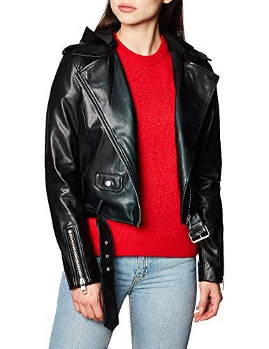 Calvin Klein Faux Leather Jacket Giacca, CK Black, L Donna