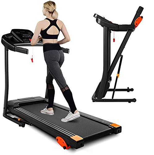 Treadmill,Treadmills for Home, 2.5HP Portable Foldable Treadmill with 15 Pre Set Programs and LED...
