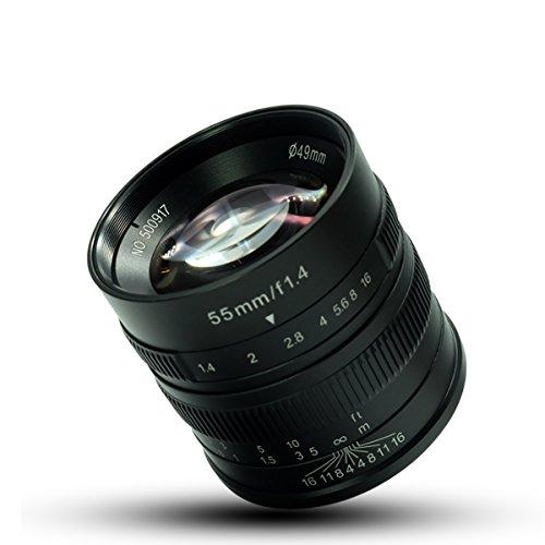 7artesanos 55mm F1.4gran apertura Micro cámara de enfoque manual retrato lente para cámaras Fuji.: x-at, X-M1, X-A1, X-A2, X-T1, XM2x-t2, X-T10, X-Pro1, X-E1, X-E2y gamuza de tuyung