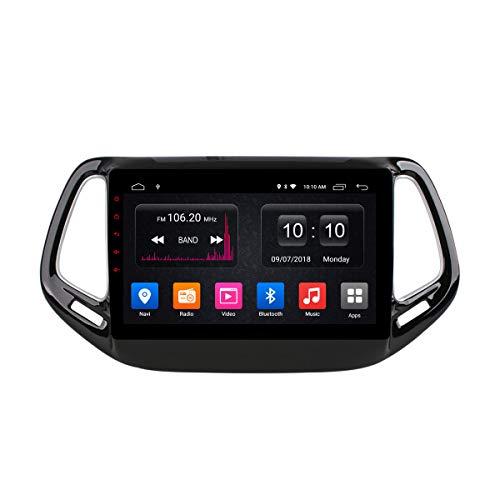 Car Stereo Car DVD CD Player Sat Navi para Jeep Compass 2017 Soporte Navegación GPS Audio Video Bluetooth USB SD SWC FM Am